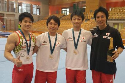 スロベニア大会決勝、佐藤、亀山、武田が金メダル獲得!