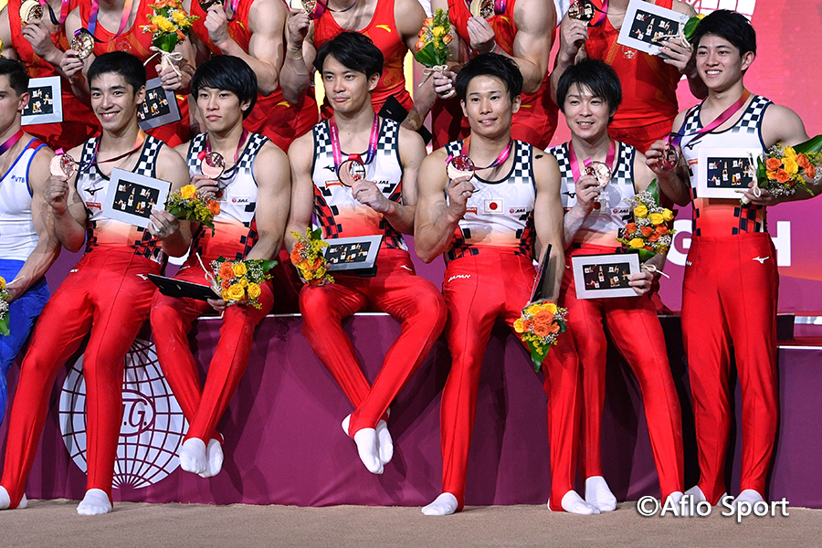 第48回世界体操男子団体決勝、日本は3位で五輪団体出場権獲得