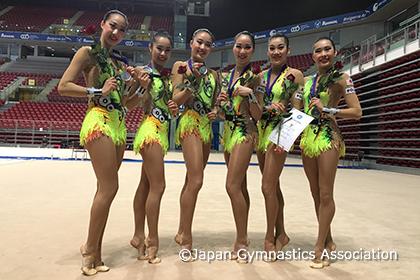 新体操W杯ソフィア、FJP団体総合銀メダル獲得