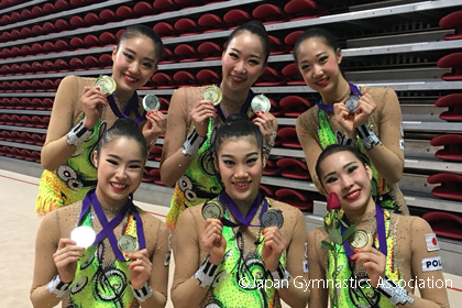 新体操W杯ソフィア、FJP団体種目別ボール&ロープで優勝!