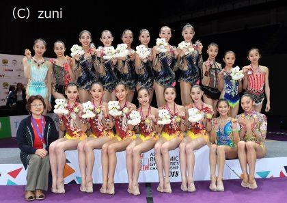 新体操アジア・アジアジュニア 前田選手が銀メダル獲得!団体種目別でも銀・銅メダル獲得!