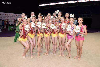 新体操アジア・アジアジュニア団体総合で金メダル!ユース五輪出場枠獲得!
