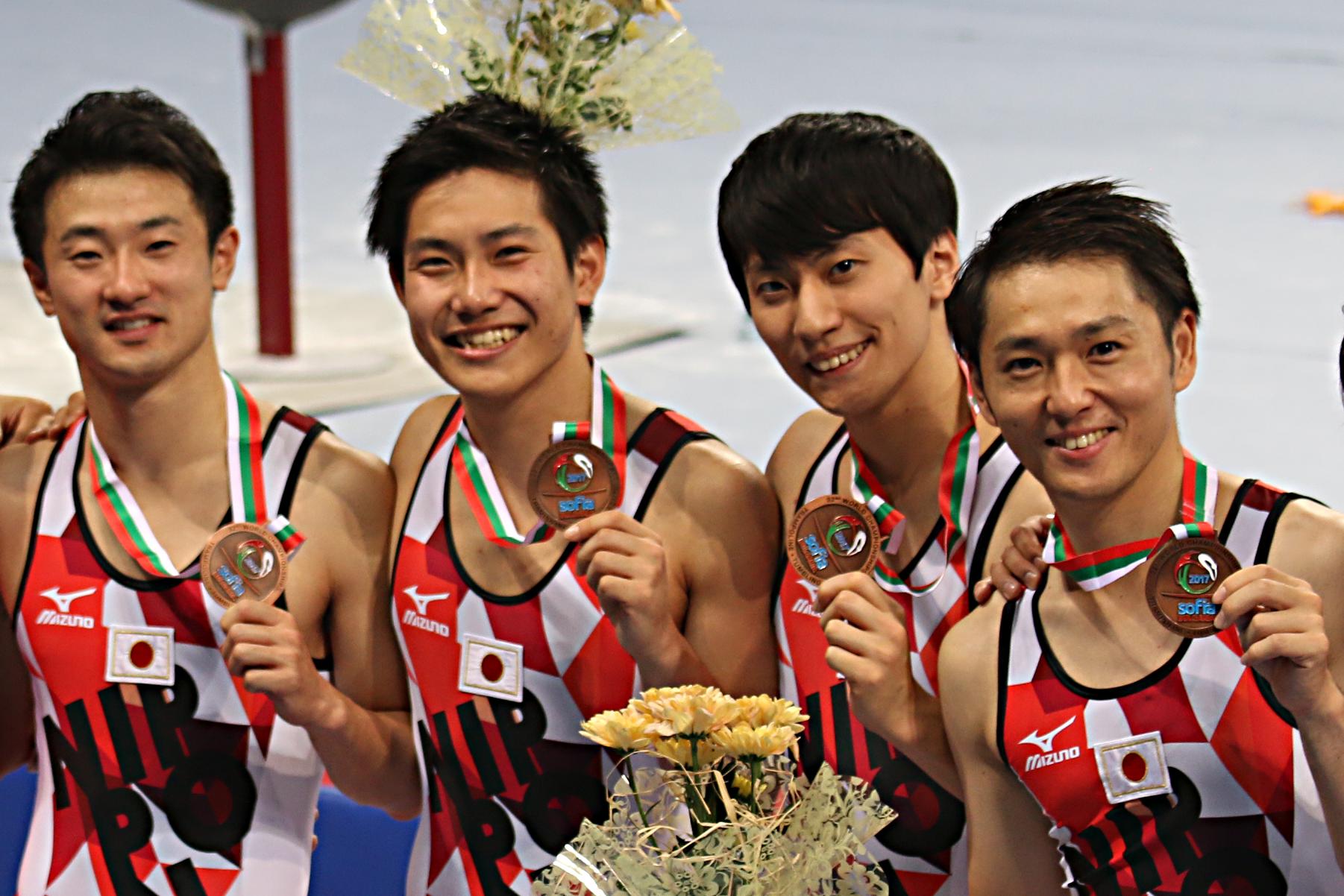 第32回世界選手権 男子団体銅メダル