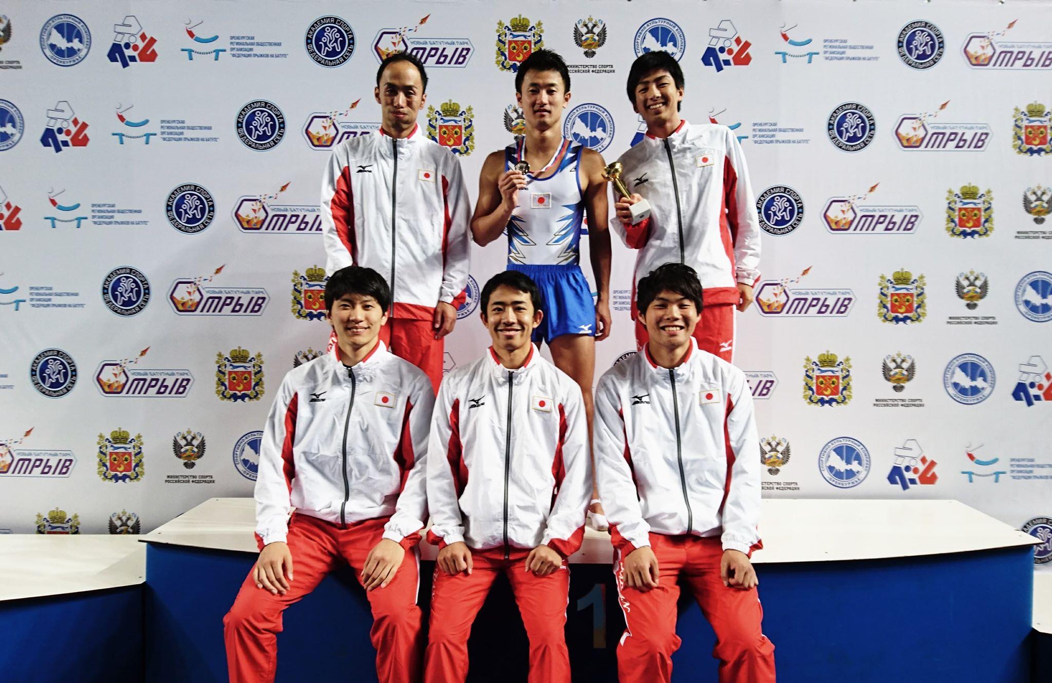 ロシア選手権で日本男子がメダル獲得